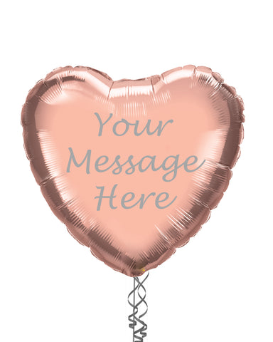 "Personalised 18"" Heart Balloon - PartyFeverLtd"