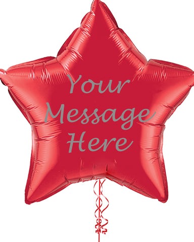 "Personalised 36"" Star Balloon - PartyFeverLtd"