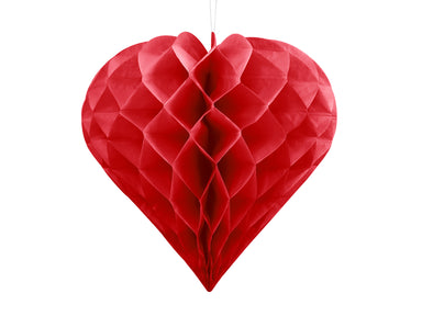 Red Honeycomb Heart - PartyFeverLtd