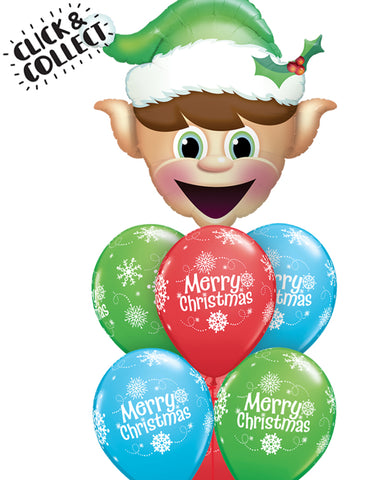 Fab Merry Elf Balloon Bouquet - PartyFeverLtd