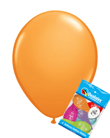 Orange Balloons pk6 - PartyFeverLtd