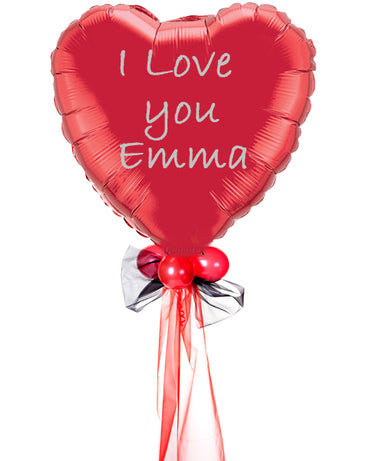 Personalised Supersize Valentine Heart Balloon - PartyFeverLtd
