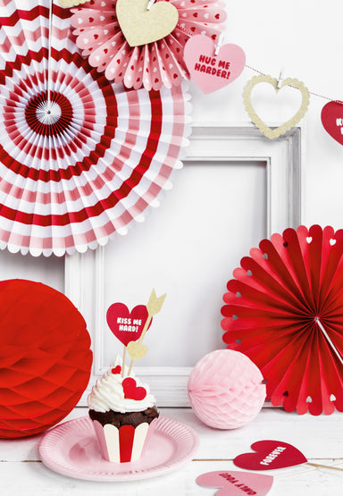 Decorative Rosettes - Sweet Love Mix - PartyFeverLtd