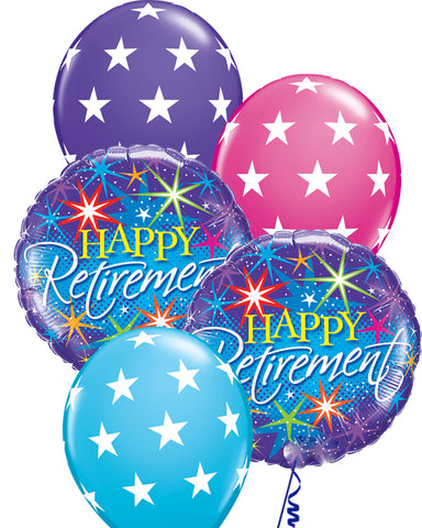 Happy Retirement Balloon Bouquet - PartyFeverLtd
