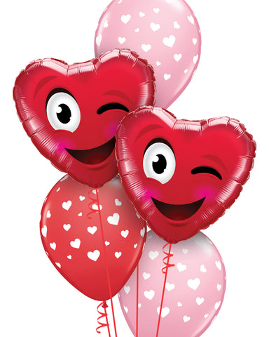 Valentine Smile & A Kiss Balloon Bouquet - PartyFeverLtd