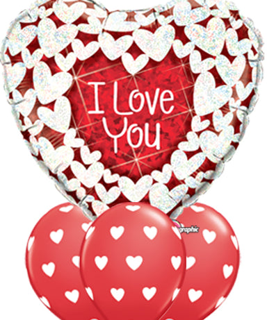 Supersize Valentine Heart Balloon Bouquet - PartyFeverLtd