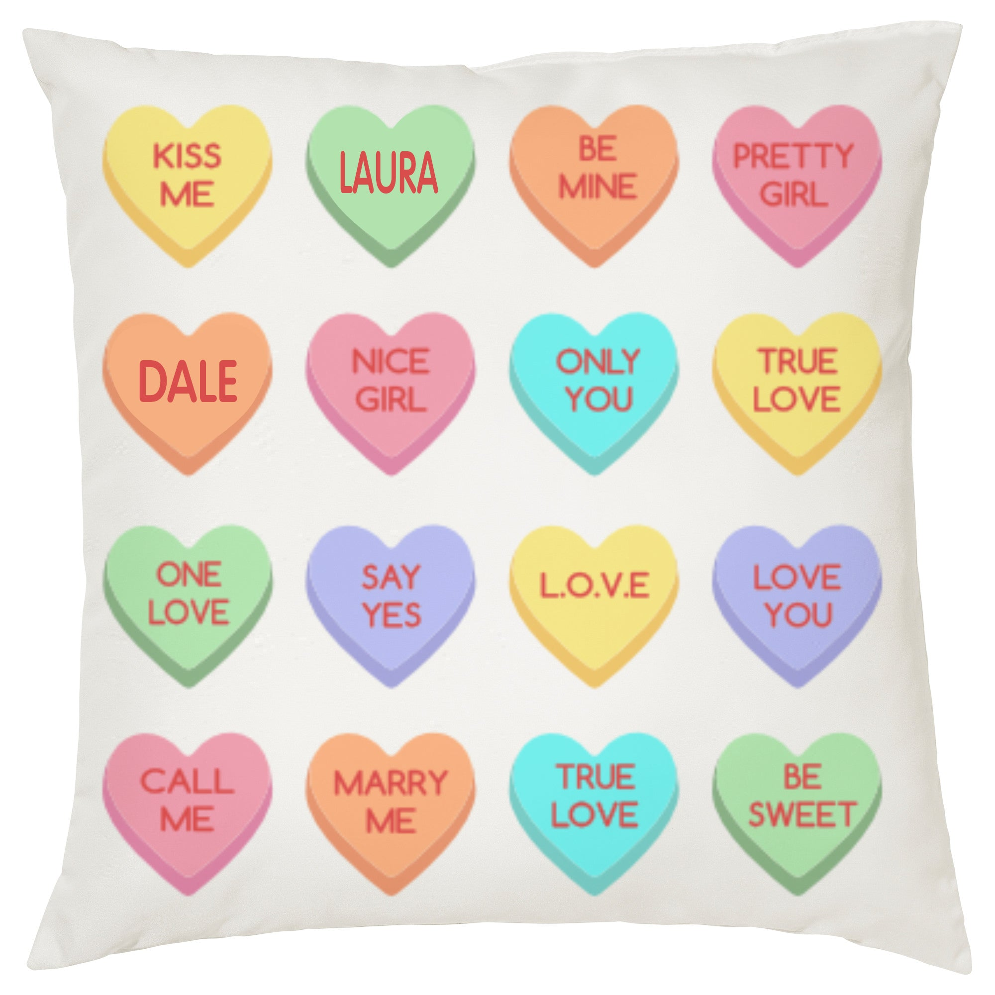 Lovehearts Cushion -Personalise It! - PartyFeverLtd