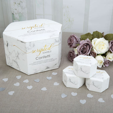 Scripted Marble Wedding Confetti - PartyFeverLtd