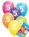 5th Birthday Balloons Pk6 - PartyFeverLtd