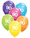 90th Birthday Balloons Pk6 - PartyFeverLtd