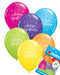 Happy Birthday Balloons Pk6 - PartyFeverLtd