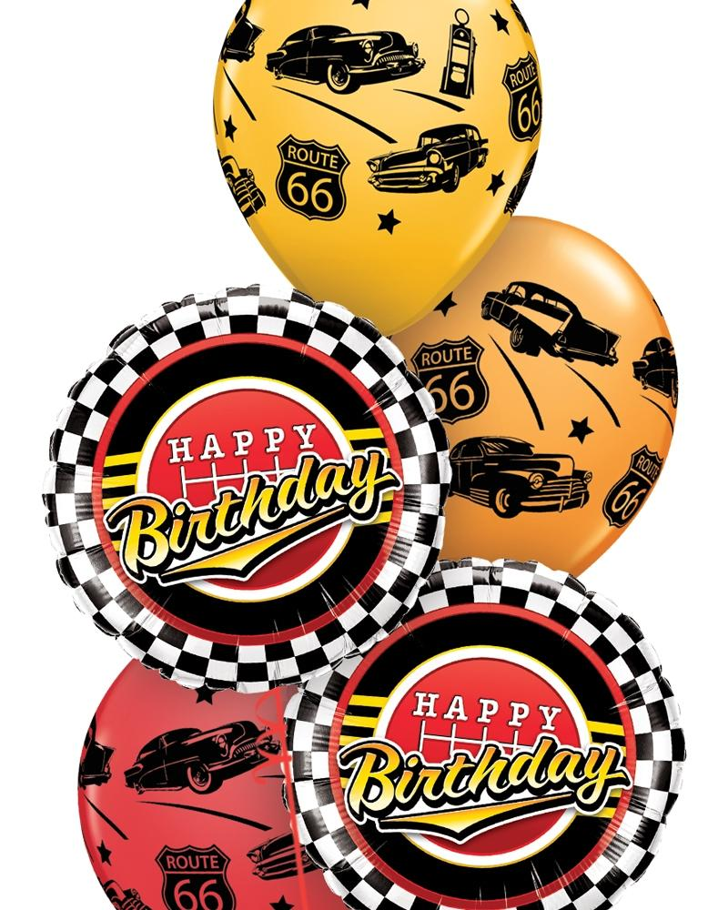Full Throttle Birthday Balloon Bouquet - PartyFeverLtd