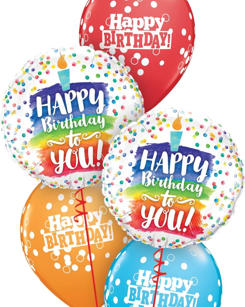 Happy Birthday To You Birthday Balloon Bouquet - PartyFeverLtd