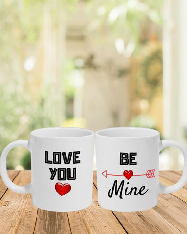 Be Mine Love You Mug - PartyFeverLtd