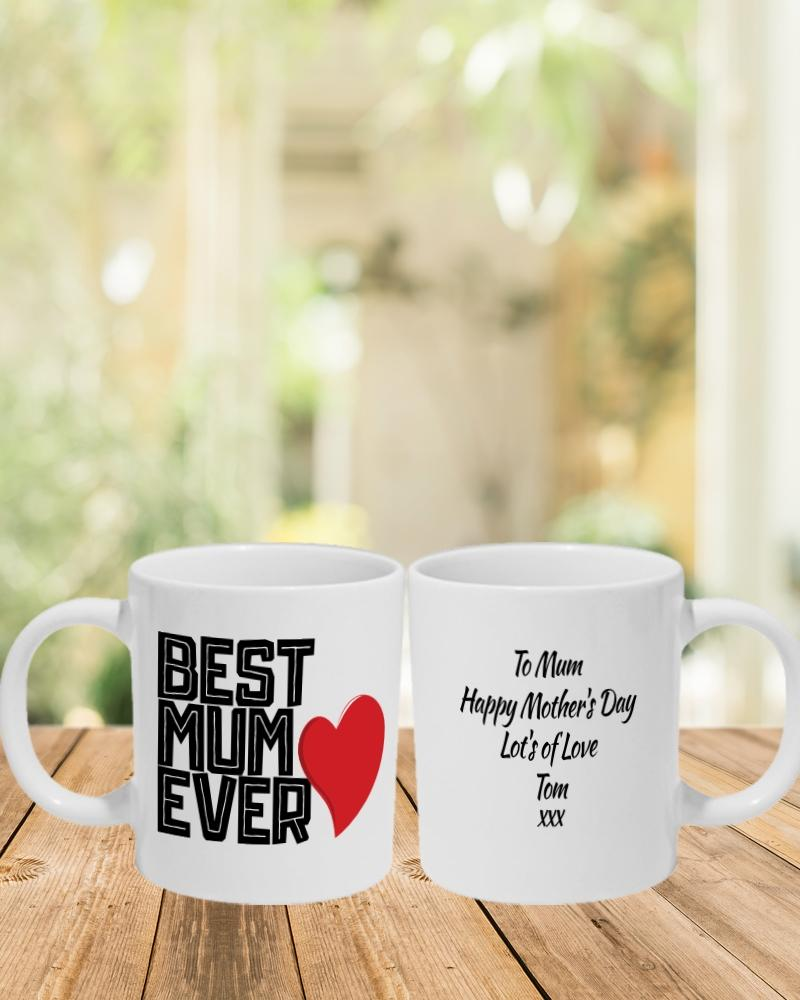 Best Mum Ever Mug -Personalise It! - PartyFeverLtd