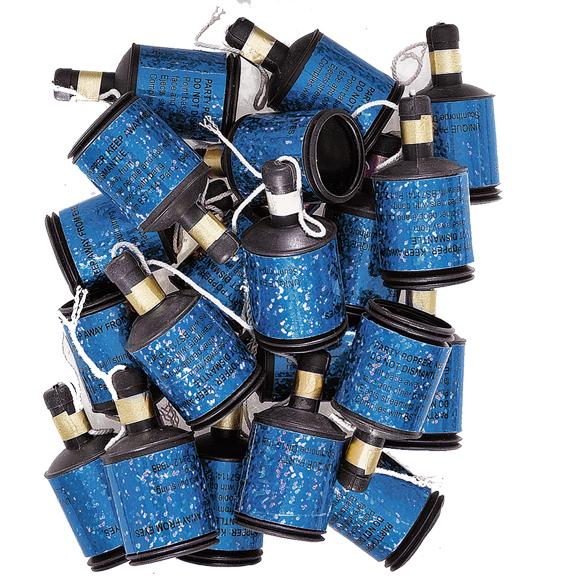 Blue Glitz Party Poppers - PartyFeverLtd