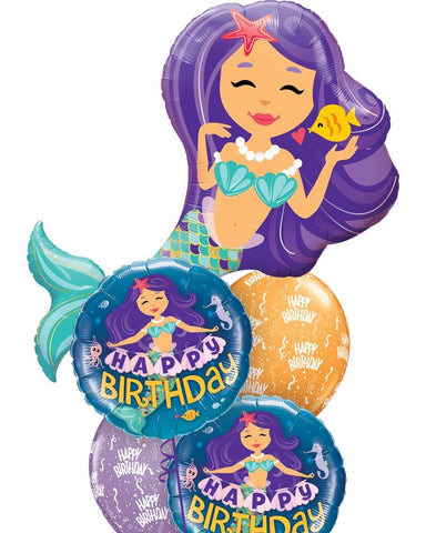 Classic Mermaid Balloon Bouquet - PartyFeverLtd