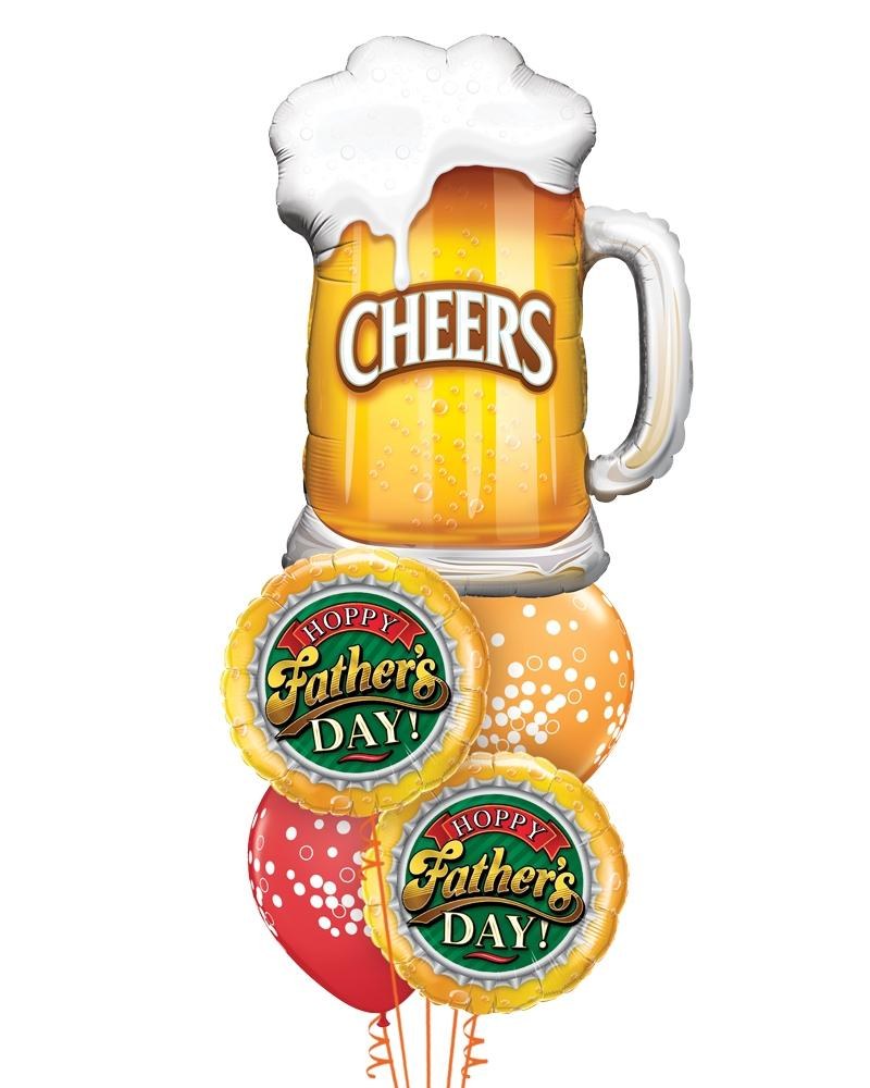 Classic Father's Day Beer Balloon Bouquet - PartyFeverLtd