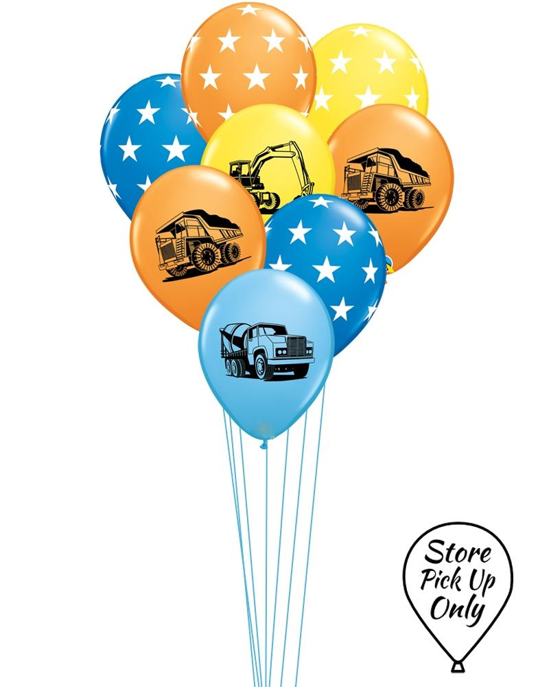 Construction Mix Party Balloons - PartyFeverLtd