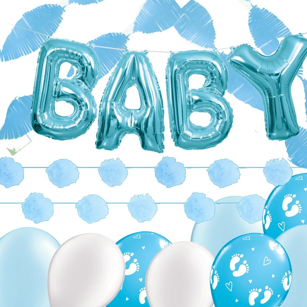 Blue Baby Doorstep Decor Pack - PartyFeverLtd