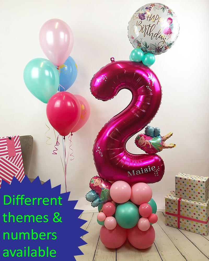 Personalised Balloon Number Tower - PartyFeverLtd