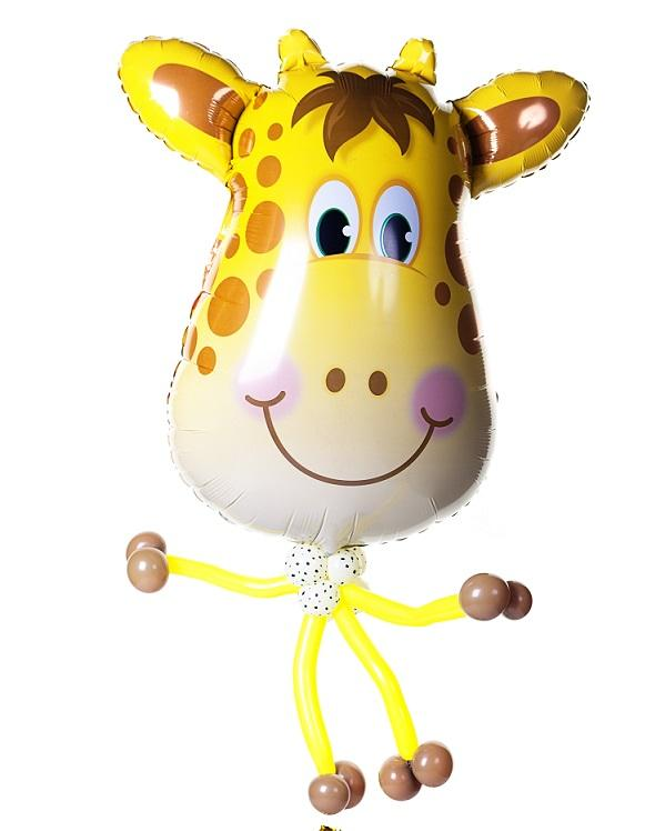 Giraffe Balloon Bobble Head - PartyFeverLtd
