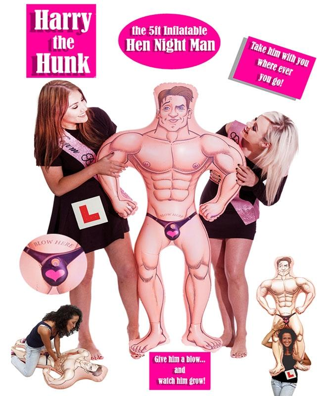 Harry The Hunk Inflatable Man - PartyFeverLtd
