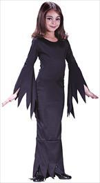 Morticia Child Costume - PartyFeverLtd
