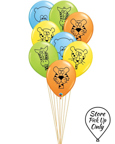 Jungle Animal Party Balloons - PartyFeverLtd