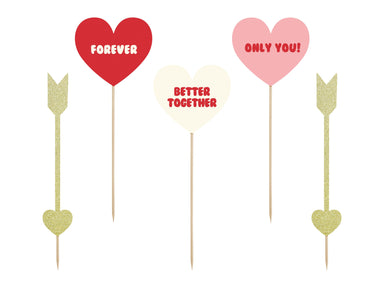 Cake Toppers - Hearts & Arrows - PartyFeverLtd