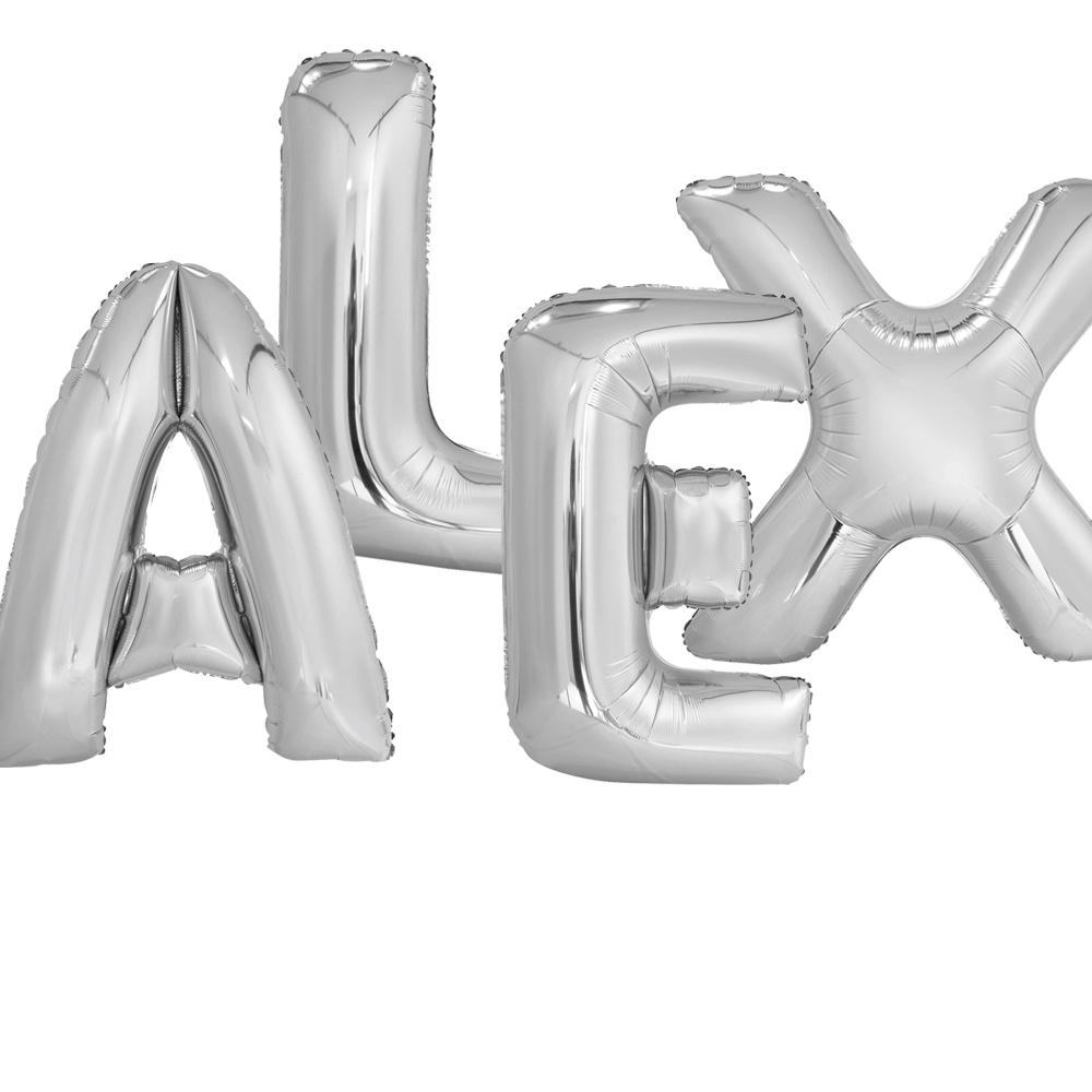Giant Letter Balloons  -  Inflated & Weighted - PartyFeverLtd