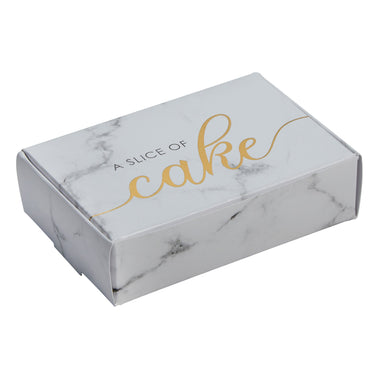 Scripted Marble Cake Boxes - PartyFeverLtd
