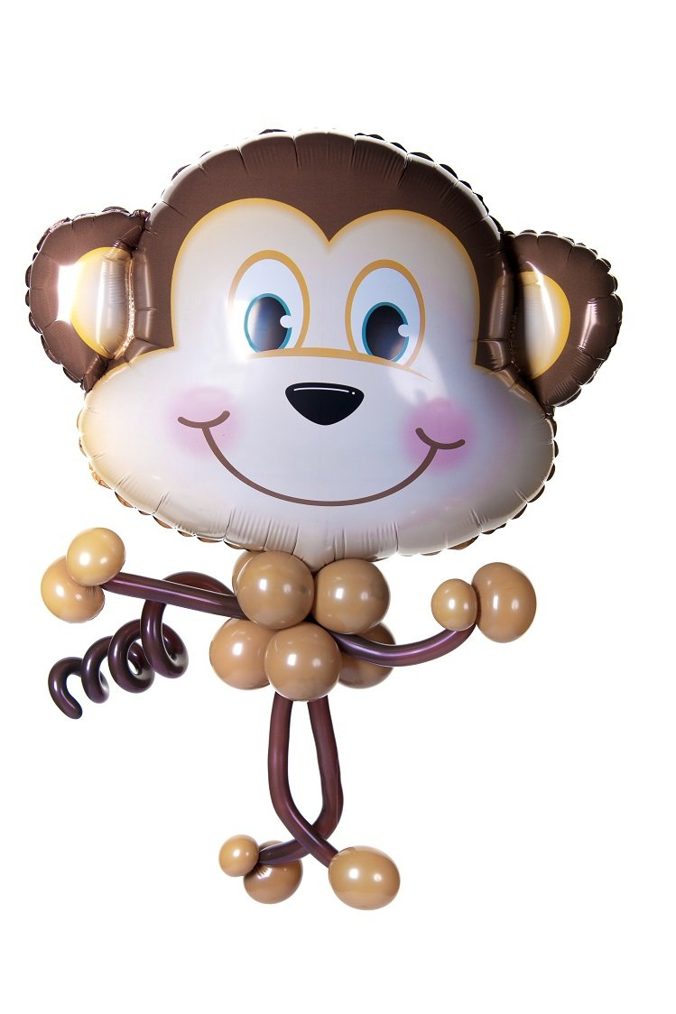 Monkey Balloon Bobble Head - PartyFeverLtd