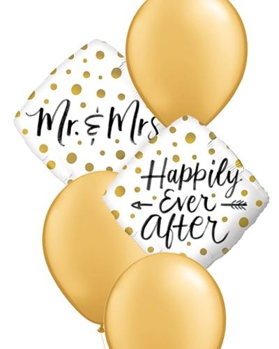 Happily Ever After Wedding Balloon Bouquet - PartyFeverLtd