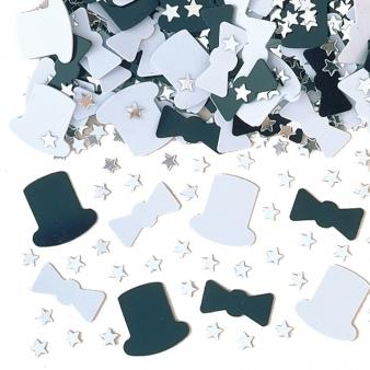 top hat and tie confetti - PartyFeverLtd