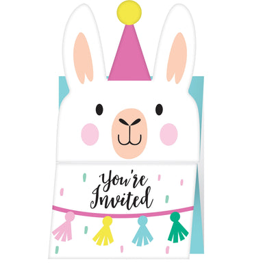 Llama Party Invitations - PartyFeverLtd