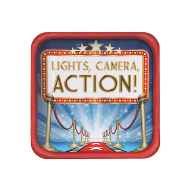 Hollywood Lights Dinner Plate - PartyFeverLtd