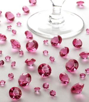 Hot Pink Table Crystals - PartyFeverLtd
