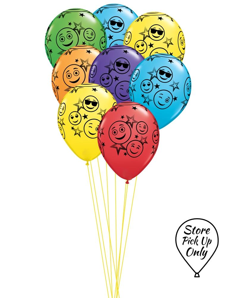 Smiley Face Mix Balloons - PartyFeverLtd