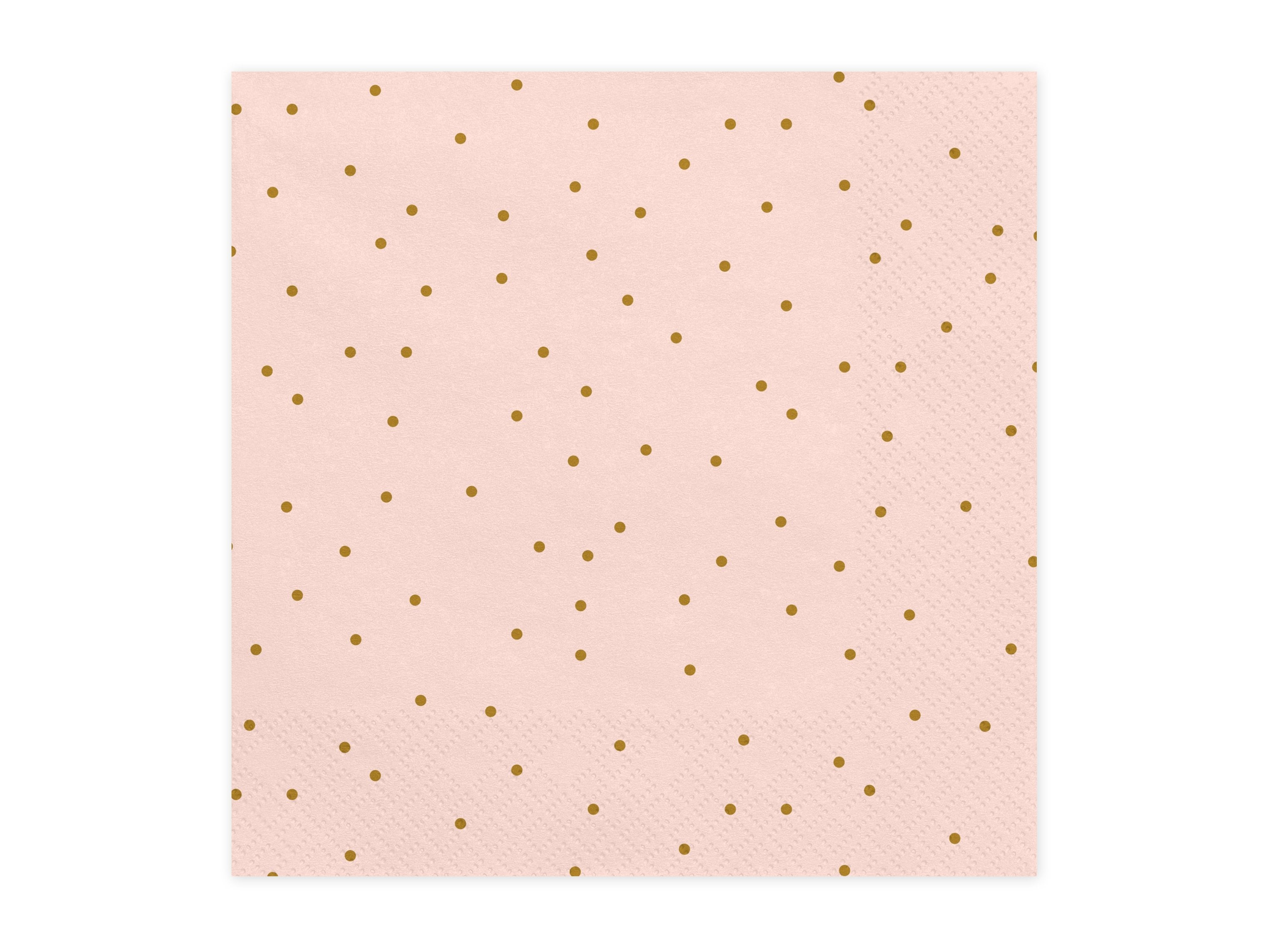 Mini Dot Napkins - Pink & Gold - PartyFeverLtd
