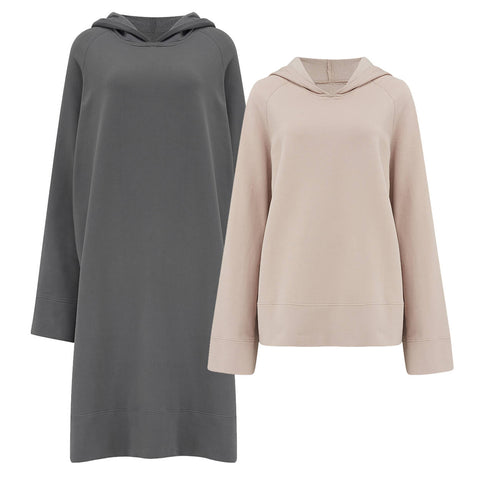 Two more variations of The Hooded Contemporary Sweatshirt