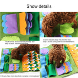 Attractive Dog Snuffle Mat Colorful Feeding Mat Detachable Training Pad for Your Beloved Dog