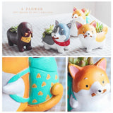 Super Cute Flowerpot Akita Husky Dachshund Planters Succulent Plants Lovely Dog Flower Pot