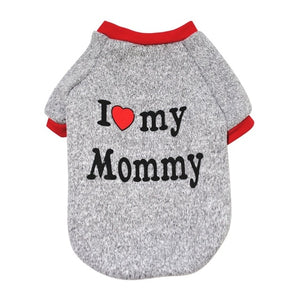 Adorable I ♥ my Mommy/ Daddy Dog Knitwear Soft Warm Dog Sweater for Your Lovely Dog