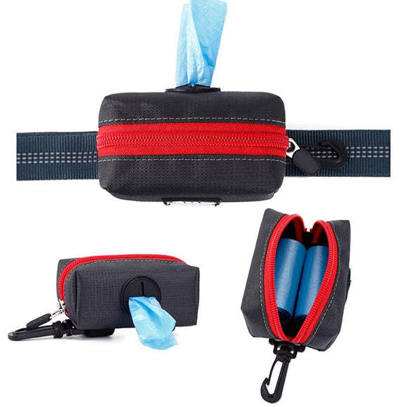Greatly Convenient Dog Poop Bag Holder Hook Pouch Leash Attachment Portable Outdoor Travel