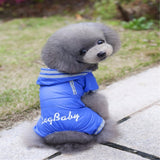 Cute Dog Pet Raincoat Jacket 4-legs Button Waterproof Coat For Your Beloved Dogs