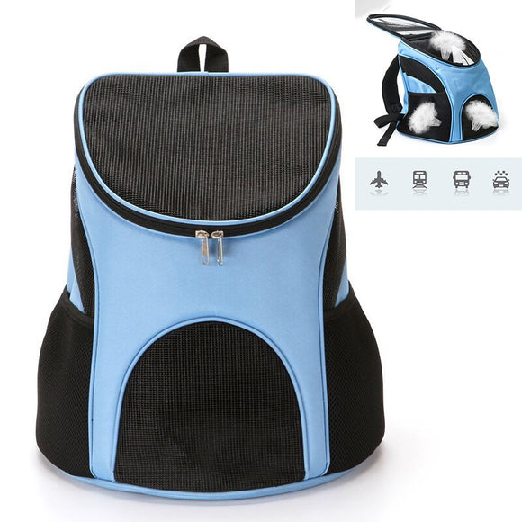 Foldable Dog Carrier Backpack Portable Outdoor Travel Zipper Mesh Dog Carrier Backpack for Small Dogs
