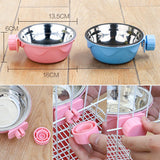Friendly Hanging Cage Bowl Water Food Feeder for Your Beloved Dogs