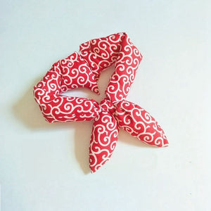 Charming Cotton Dog Bandana Japanese Style Dog Bow Tie Scarf for Your Lovely Dog