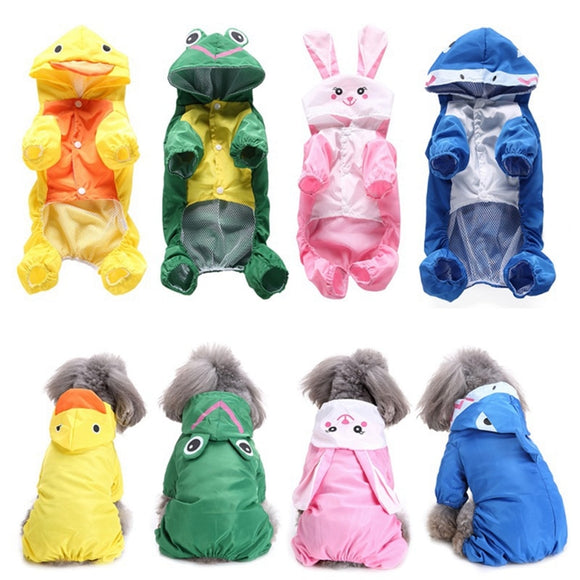 Cute Animal Dog Raincoat Waterproof Jacket Jumpsuit Active Outdoor for Your Lovely Dogs